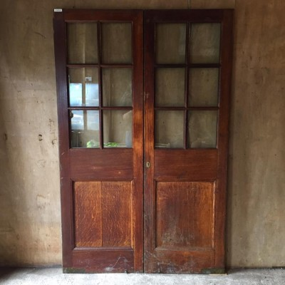 Antique Oak Double Doors