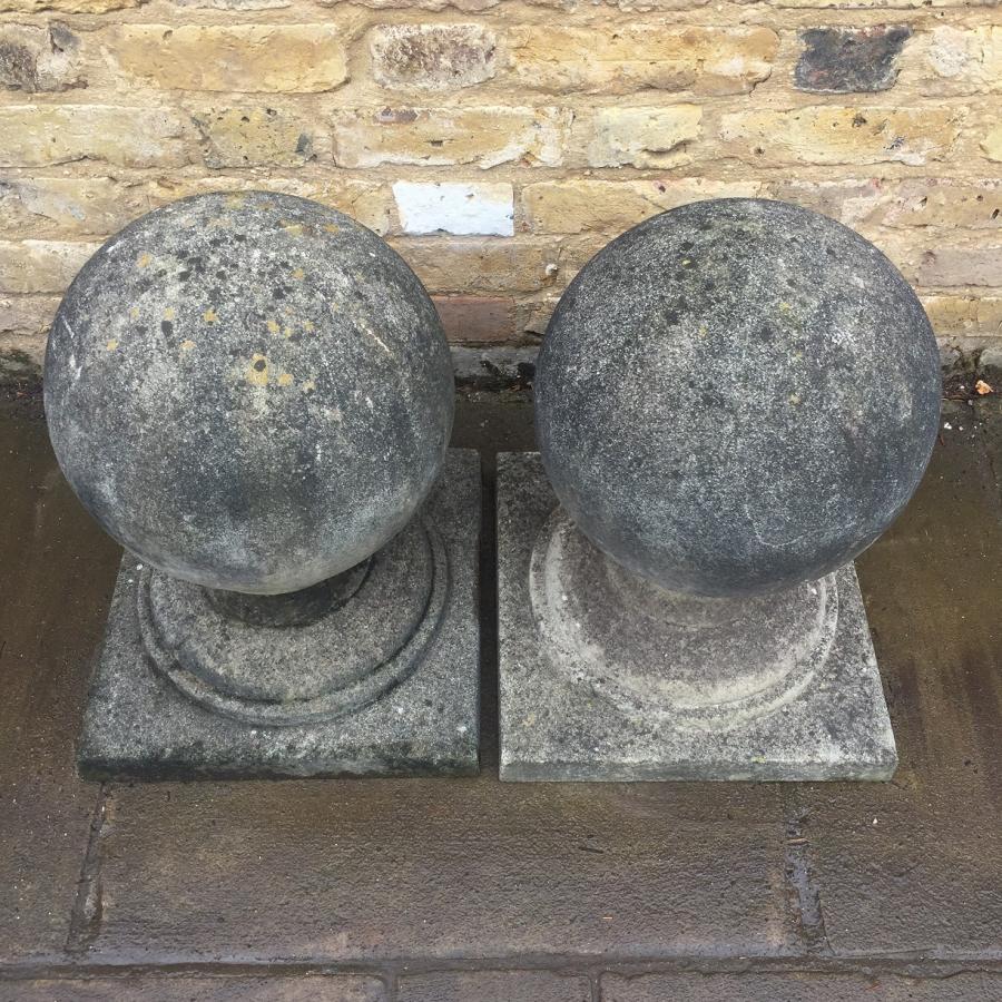 Pair Of Stone Pier Caps