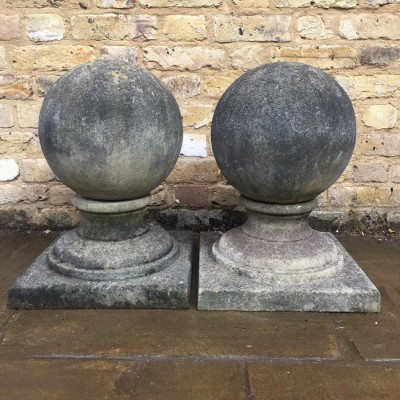 Pair Of Stone Pier Caps