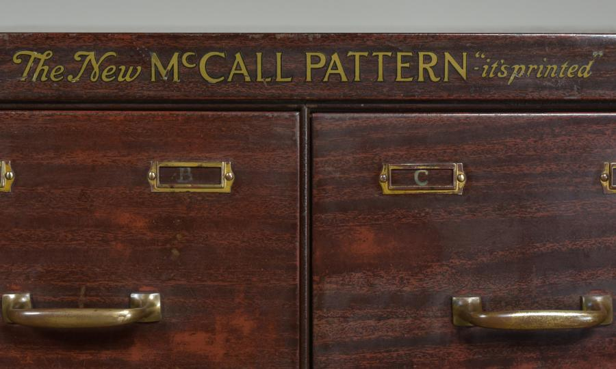McCall Pattern steel drawers pigeon holes cabinets