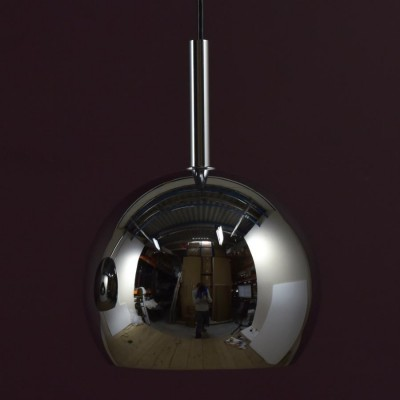nickel plated globe pendant lights 1960s