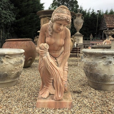 Reclaimed Marble Female Statue