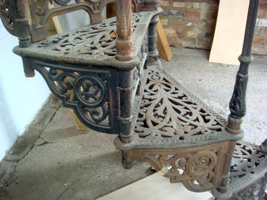 For Sale Ornate Antique Victorian Cast Iron Spiral