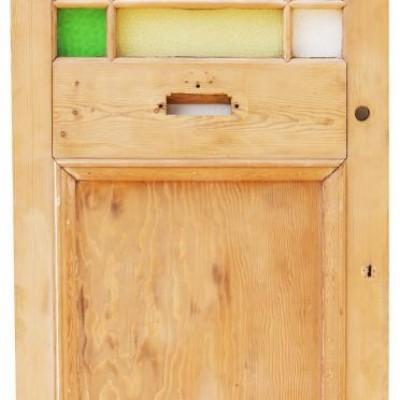 1930s Margin Glazed Pine Front Door
