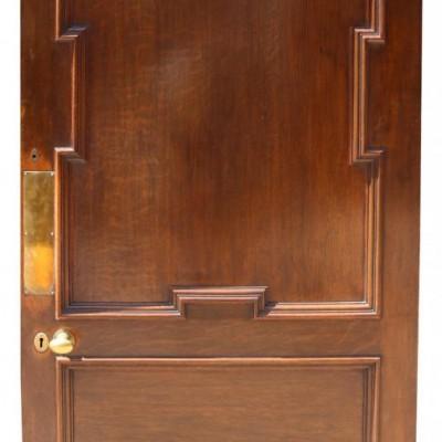 Good Quality 19th Century Walnut And Oak Door