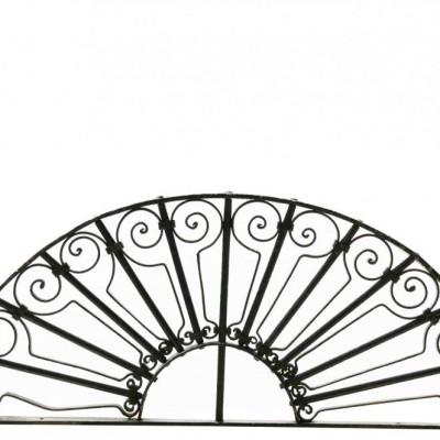 19th Century Wrought Iron Semi Circular Window