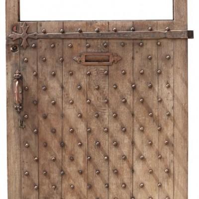 19th Century English Studded Oak Door