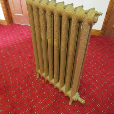 Victorian Decorated Cast Iron Radiators.