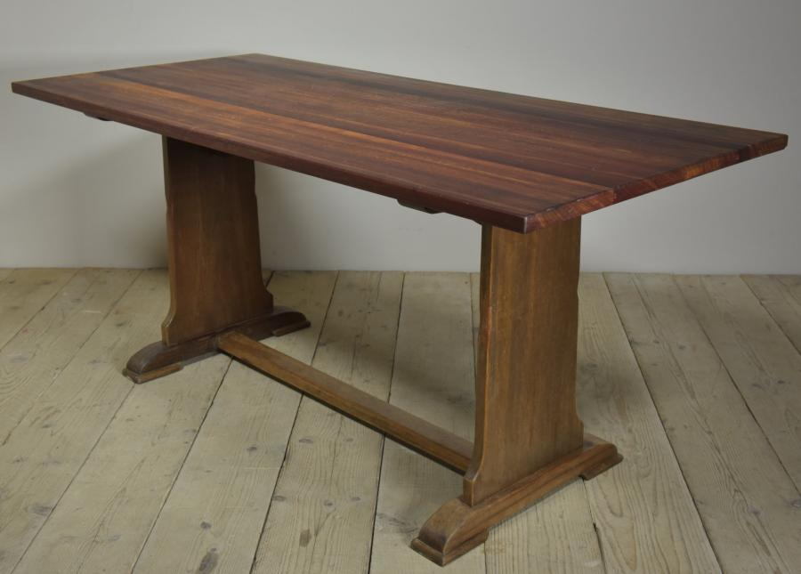 antique hardwood dining table