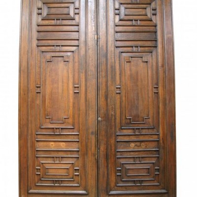 Pair of 12ft solid English oak doors from the Palace of Westminster