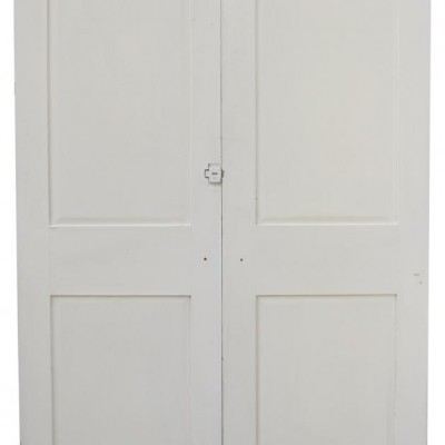 Pair Of Painted Pine Cupboard Doors
