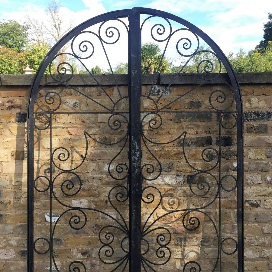 Two Pairs Of Wrought Iron Gates