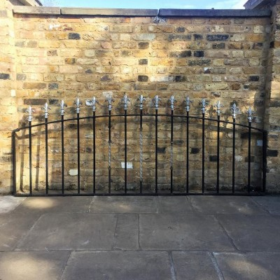 A Set Of Reclaimed Wrought Iron Railings