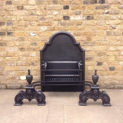 A Large Reclaimed Cast Iron Fire Basket