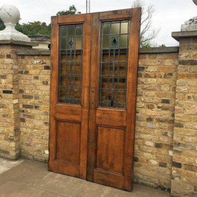 Pair Of Reclaimed Oak Doors