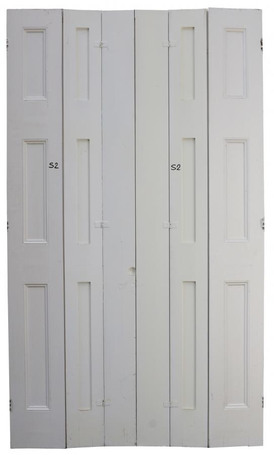 Late Victorian Painted Pine Shutters