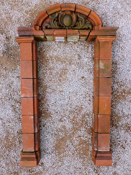 An Antique Victorian Terracotta Door Surround