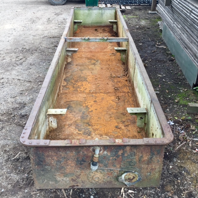 Substantial Reclaimed Studded Trough