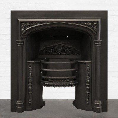 Early Victorian Cast Iron Fireplace Insert