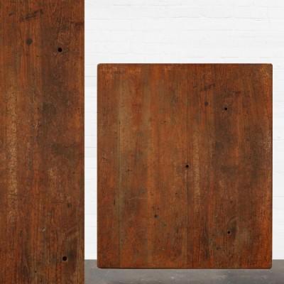Reclaimed Solid Iroko Worktop 167.5cm x 135.5cm