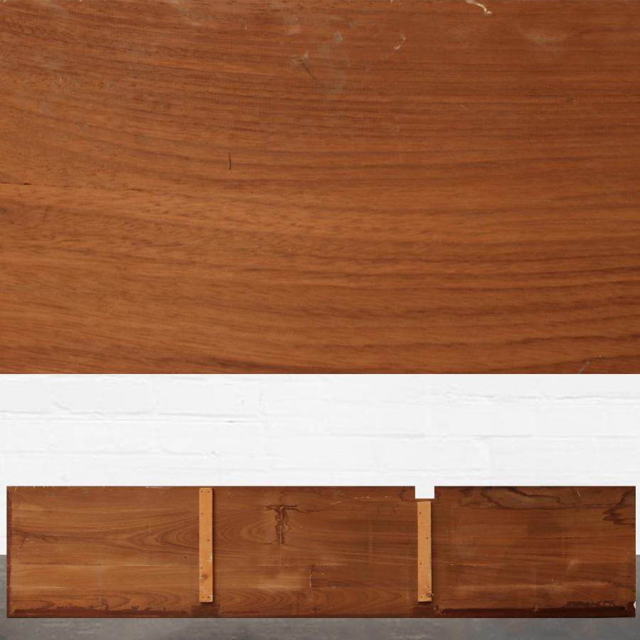 Reclaimed Solid Iroko Worktop 357cm x 76cm
