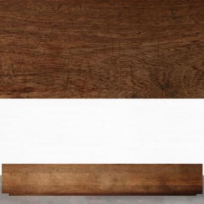 Reclaimed Solid Iroko Worktop 350cm x 60cm