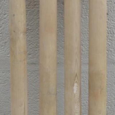 Antique set of 4 pine spindles / columns.