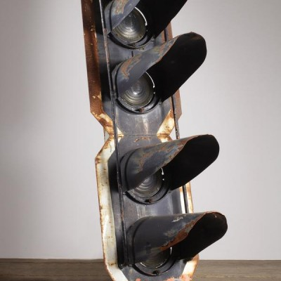 Reclaimed Pair of Old Railway Signal Lights