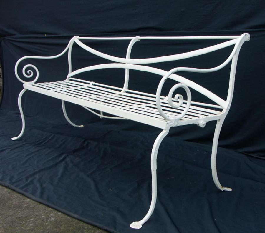 antique wrought iron scottish bench