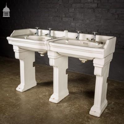 Stunning Pair of Interlocking Wash Hand Basins Double Basin