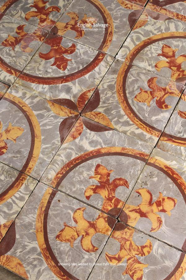 For Sale Reclaimed Patterned Encaustic Floor Tiles Salvoweb Uk