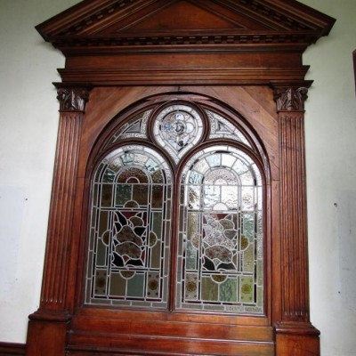 Outstanding Victorian stained glass window, must been viewed.