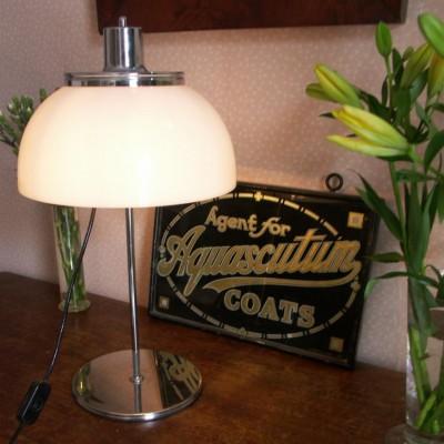 Vintage Guzzini mushroom table lamp