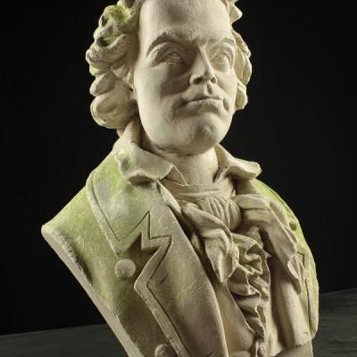 Limestone Bust of Classical Male Figure