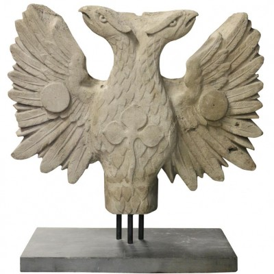 19th Century Two Headed Eagle Sculpture