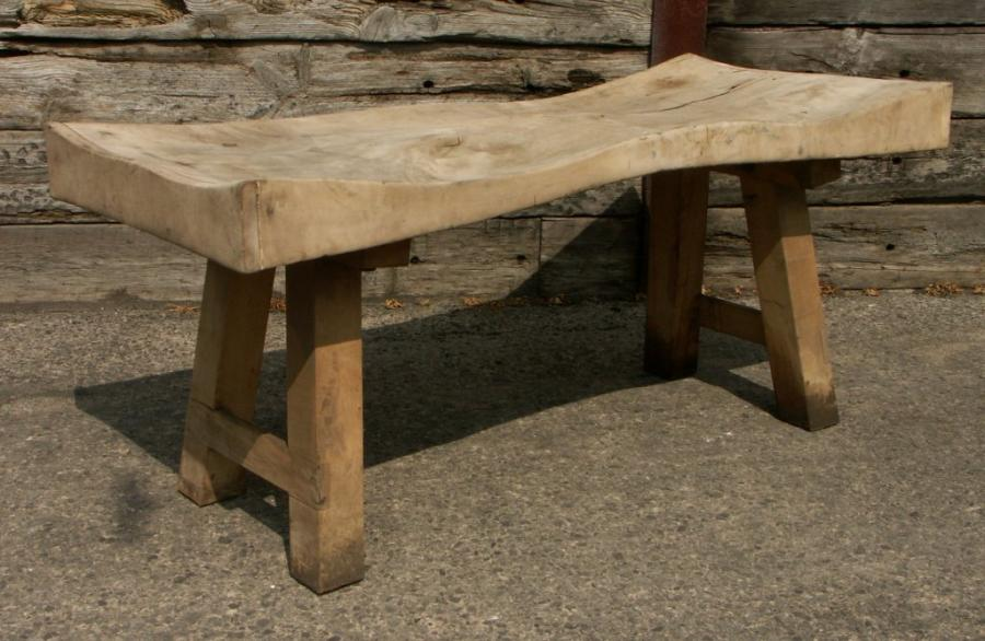 Large sculptural sycamore butchers block