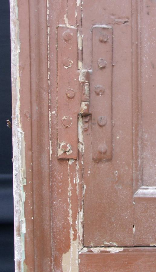antique  cupboard door and frame with handle and catch
