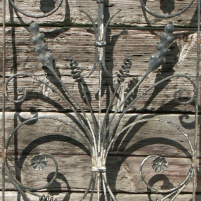 19th century antique french wrought iron panel