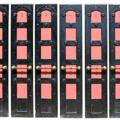 Set Of Six Late 19th Century Laundry Room Doors