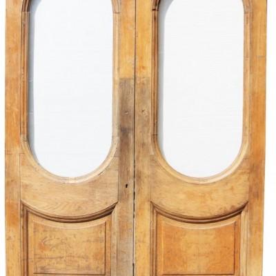 Pair Of Antique Oak 19th Century Swing Doors
