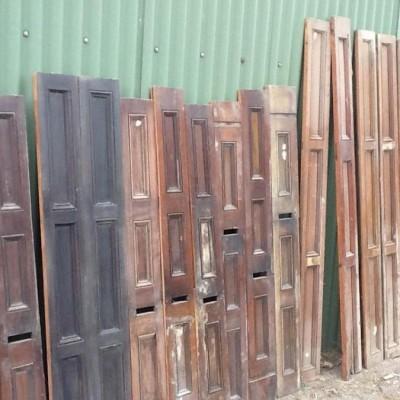 Mahogany panels and Architrave