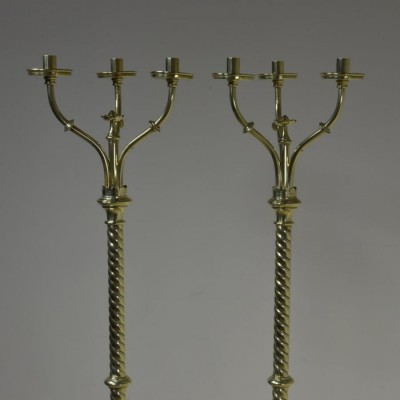 Pair antique church candelabra