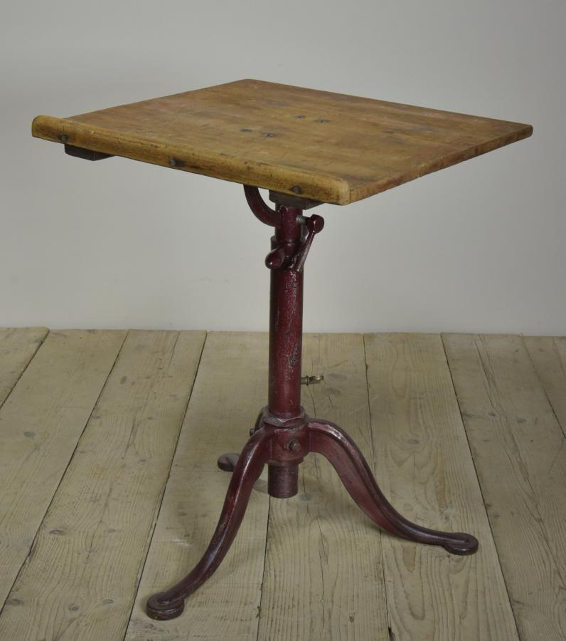 Antique American drafting artists table