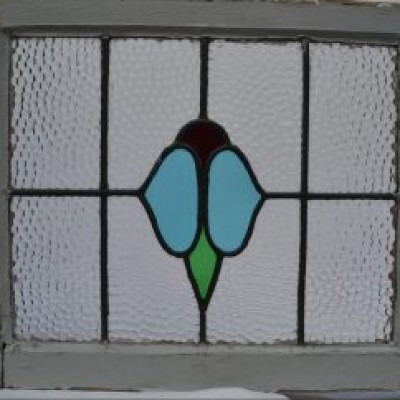 3 leaded light stained glass windows. R615