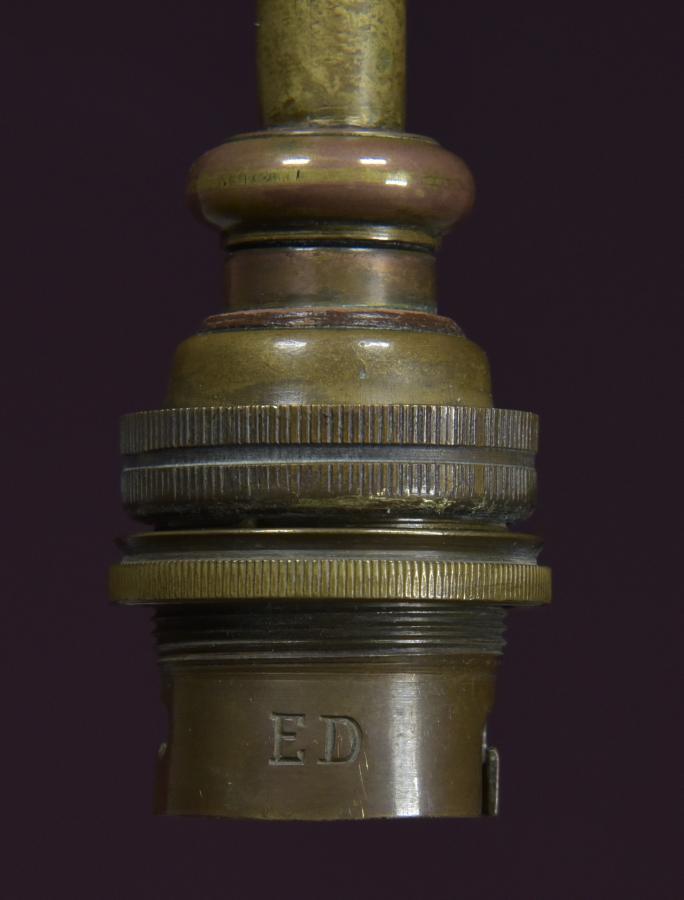 antique arts and crafts brass chandelier