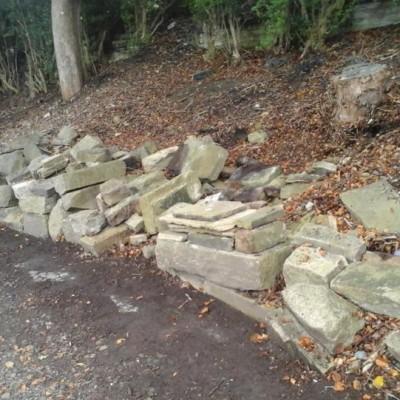 Large amount of Building stone, mixed sizes