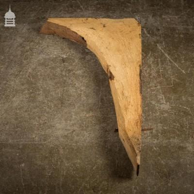 Narrow Reclaimed Antique Oak Architectural Beam Elbow