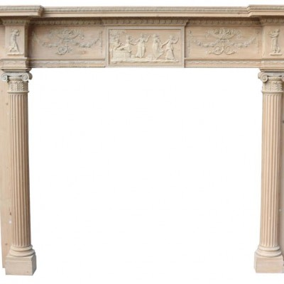 Impressive Pine And Gesso Stripped Pine Fire Surround