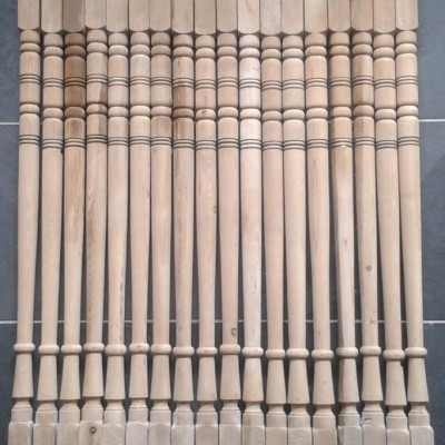 Victorian pine staircase spindles