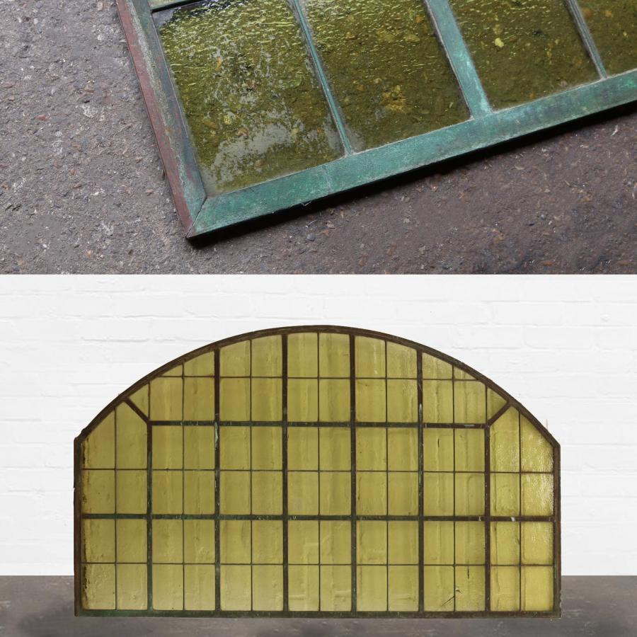 Arched Copper Light Panel / Fan Light